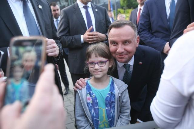 Prezydent RP Andrzej Duda przyjechał do Świętochłowic. Spotkał się z mieszkańcami miasta