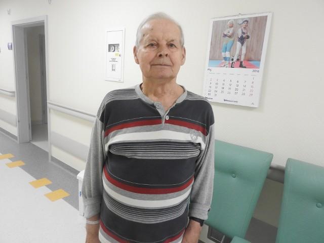 Albin Wielgus trafił na oddział geriatryczny. To tu starsi ludzie mają najlepszą opiekę