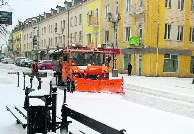 Na Rynku Kościuszki zrobiło się biało.