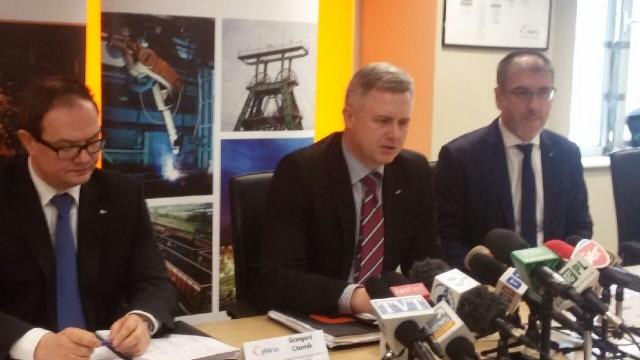 Prezes Jarosław Zagórowski na konferencji prasowej zaapelował do górników o zaprzestanie strajków
