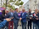 Łódzki poseł Tomasz Trela odwieszony w Nowej Lewicy. Ale manifestacja jedności partii wyszła słabo