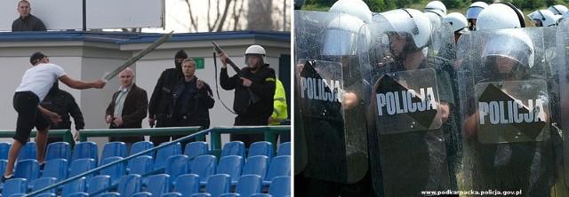 Do zaprowadzenia porządku na Stadionie przy hetmańskiej policja użyła broni gładkolufowej.