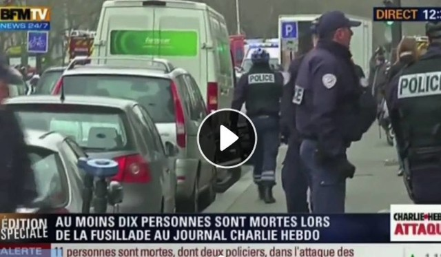 7 stycznia – zamach na redakcję Charlie Hebdo w Paryżu.CNN Newsource/x-news