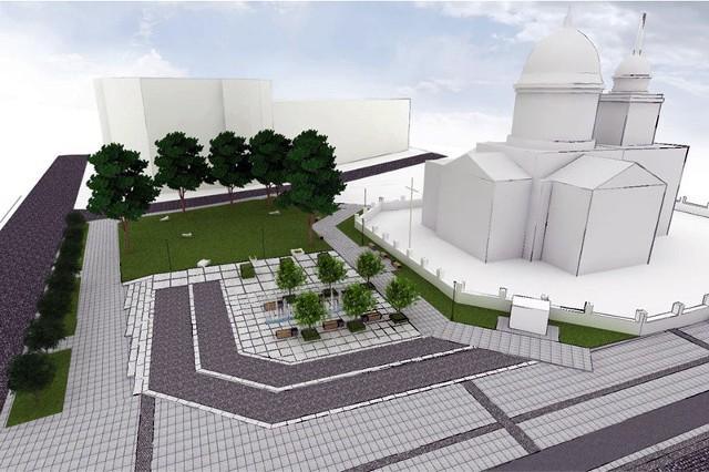 Wizualizacja skweru w centrum Białegostoku