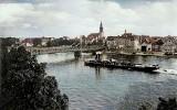 Archiwalne zdjęcia Krosna Odrzańskiego w kolorze. Fotografie sprzed drugiej wojny światowej. Tak wyglądało kiedyś miasto