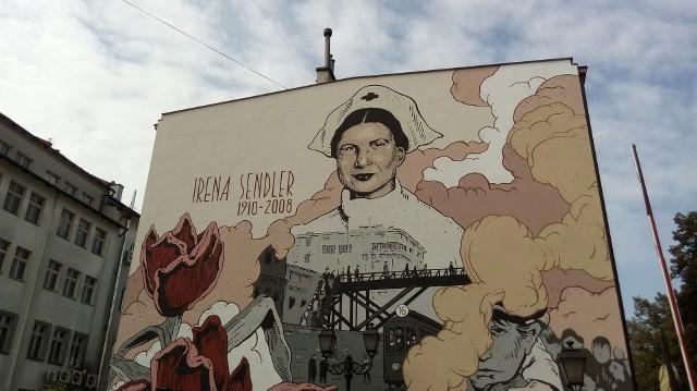 Mural na cześć Ireny Sendlerowej w Rzeszowie.