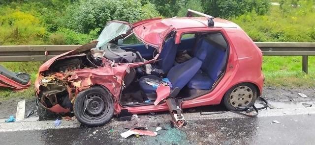 Wypadek na drodze krajowej nr 8 22.09.2021