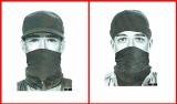Dwa portrety bandyty, który próbował okraść bank w Pabianicach