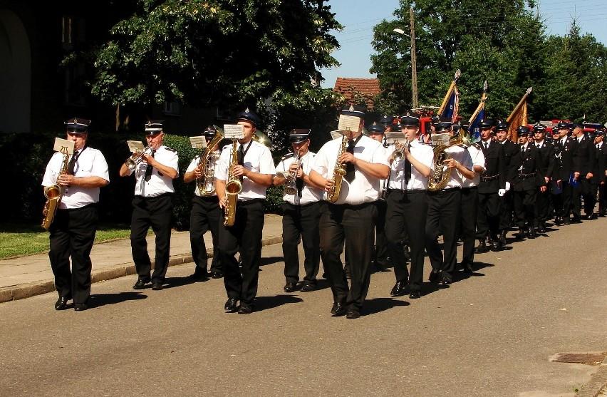 Artystycznym akordem uroczystości były występy strażackiej orkiestry,
