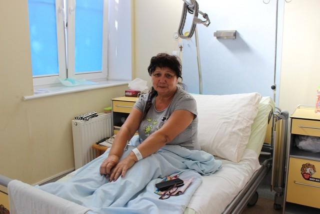 Anna Regent z Przytocznej jest zadowolona z opieki na geriatrii. - Wypoczęłam, zajęli się mną lekarze. Od razu poczułam się o wiele lepiej. Aż się nie chce wychodzić - mówi.