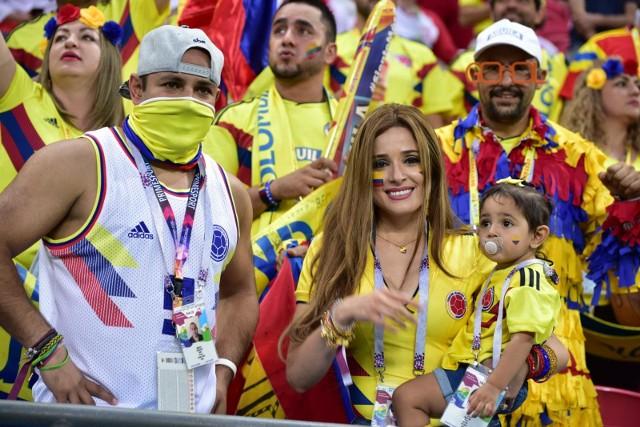 Mnóstwo kolumbijskich kibiców przyjechało do Rosji wspierać swoją drużynę narodową w mistrzostwach świata.