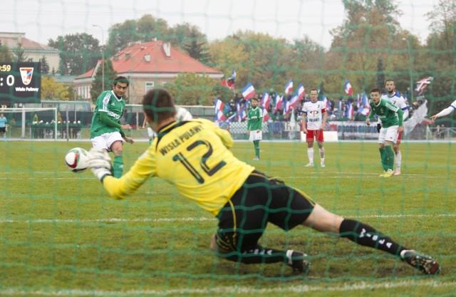 Leandro Rossi nie wykorzystał rzutu karnego w meczu przeciwko Wiśle Puławy.