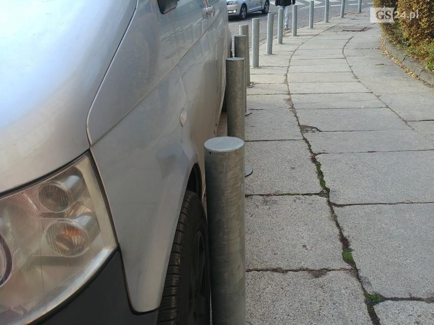 Mistrzowie parkowania na Podzamczu - 28 listopada 2019.