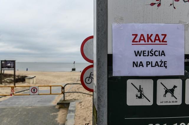 Sopot - zamknięte plaże z powodu koronawirusa