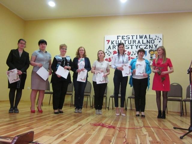 """Konkurs """"Mały poliglota"""" w RaciążuA to także  organizatorzy konkursu."""