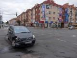 Kolizja w centrum Koszalina. Były utrudnienia [zdjęcia]