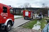 Dwa samochody zderzyły się pod Limanową. Droga w Wilkowsku była zablokowana