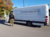 Rutka Tartak. Skradziony mercedes sprinter o wartości 130 tys zł odzyskany przez funkcjonariuszy podlaskiej Straży Granicznej [ZDJĘCIA]