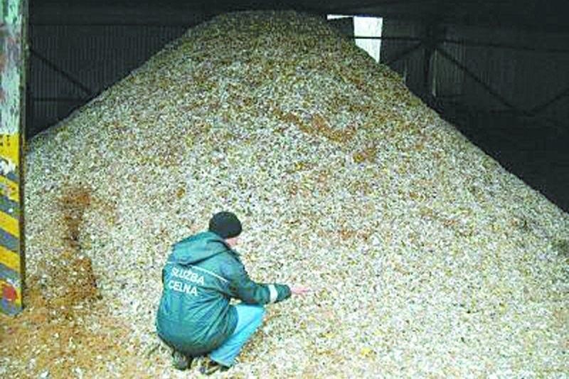Tak wygląda 800 tys. zniszczonych paczek papierosów. Zostaną one spalone w piecu w jednej z cementowni na południu kraju.