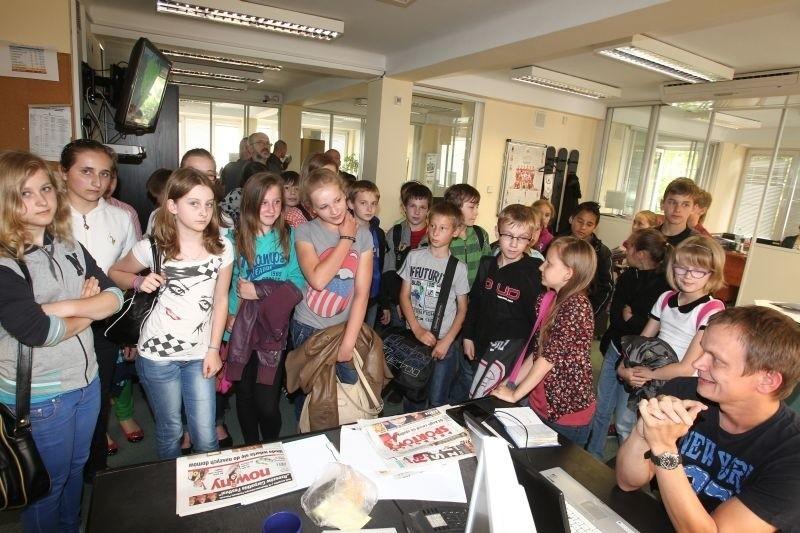 Uczniowie z Nowosielca z wizytą w Nowinach