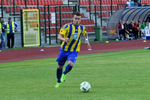 Napastnik Dawid Lipiński zdobył dwie bramki dla Stali w meczu z ekipą Unii.
