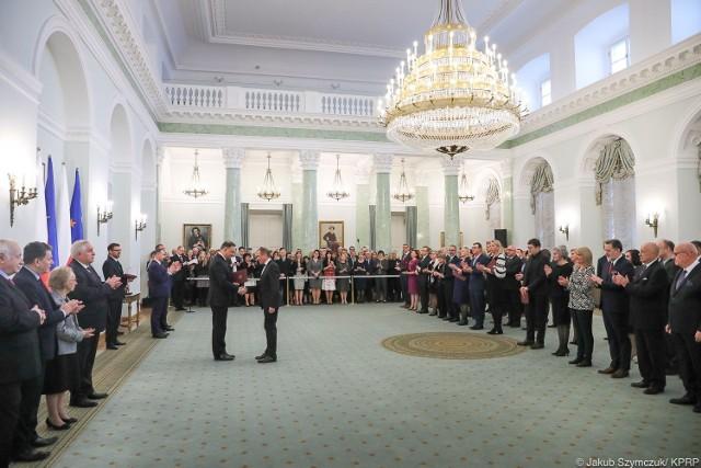 Prezydent Andrzej Duda wręczył 28.11.2019 szereg nominacji profesorskich