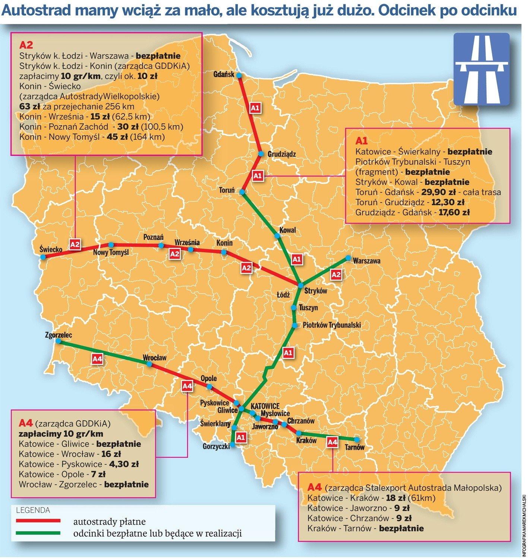 Oplaty Za Autostrady Czy Wiesz Ile Wydasz Mapa Autostrad Ceny