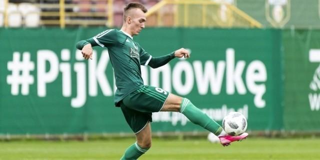 Dwie bramki dla Śląska Wrocław w Łodzi strzelił Kacper Głowieńkowski