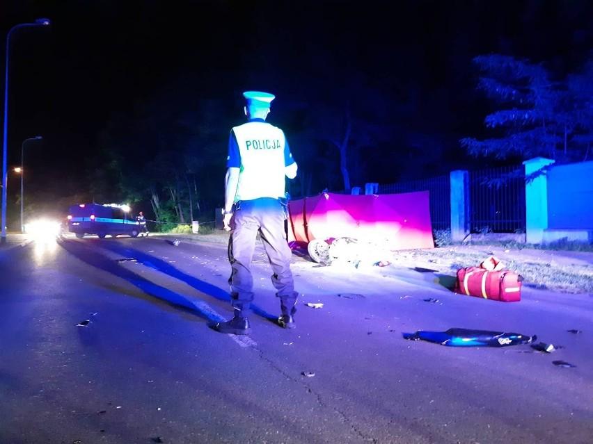 Śmiertelny wypadek motocyklisty w Łodzi. Na ul. Rudzkiej zginął 29-latek
