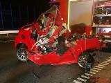 Tragiczny wypadek na autostradzie A1 w Bobrownikach: Zginął 24-letni kierowca z Zabrza ZOBACZCIE ZDJĘCIA
