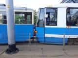 Wypadek tramwajów na placu Jana Pawła II (ZDJĘCIA)