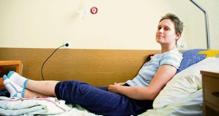 Maria Kopczyk, pacjentka hematologii, ma 28 lat, wróciła do...