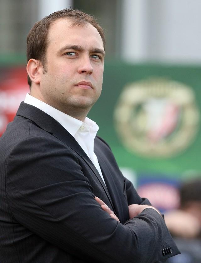 Prezes Widzewa Marcin Animucki