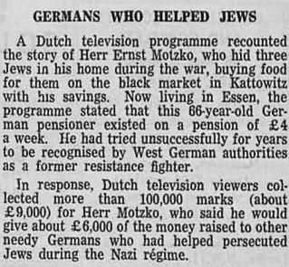 Wycinki prasowe, dokumentujące historię Ernsta Motzko