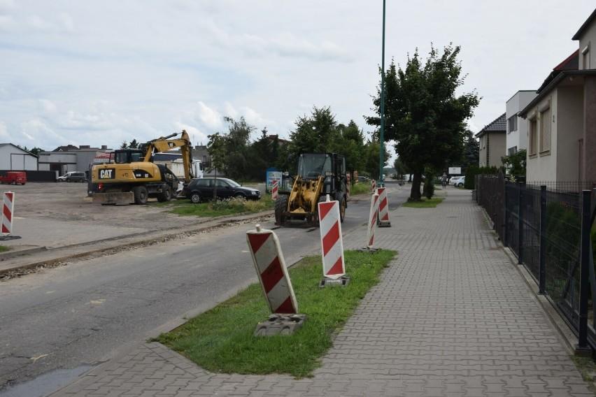 Na ulicy Sportowej w Zbąszyniu, obecnietrwa modernizacja...