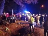 Wypadek w Dębinie. Ranny kierowca osobówki i 8-letnia dziewczynka