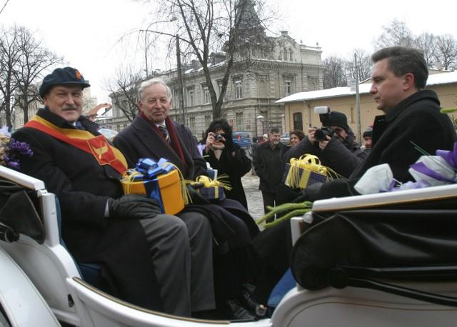 Trzech Króli AD 2005. Byli prezydenci: Łodzi - Jerzy Kropiwnicki , Pabianic - Jan Berner i Zgierza - Karol Maśliński.
