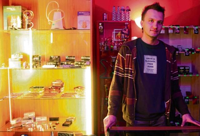 Michał Skowronek właściciel sklepu z dopalaczmi w Katowicach