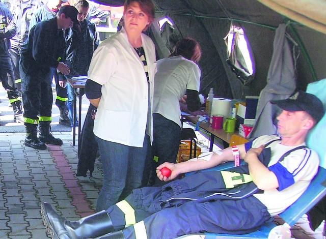 Prawie czterdzieści osób zgłosiło się do honorowego oddania krwi