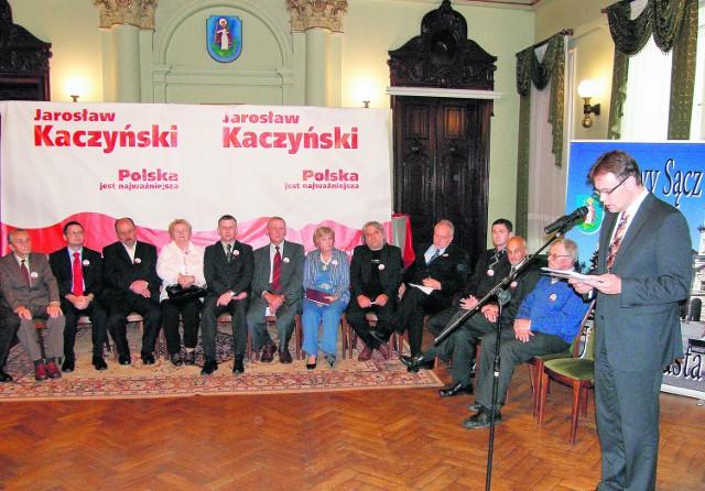 Inauguracja działalności komitetu odbyła się w sali reprezentacyjnej sądeckiego ratusza