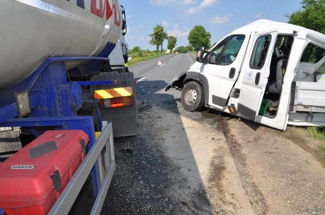 Wypadek we Wronowie.