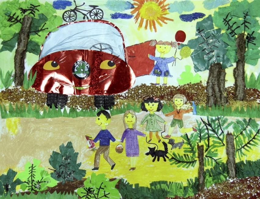 Praca wykonana przez Paulinę Drąg, lat 5,5