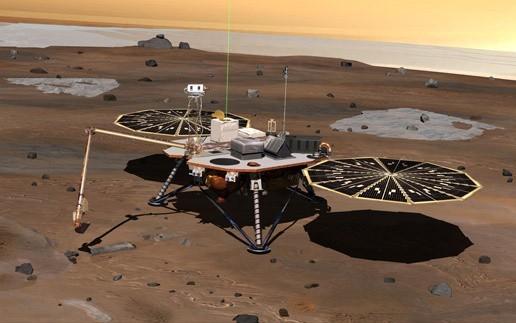 Tak wg NASA ma wyglądać Phoenix po bezpiecznym wylądowaniu na Marsie