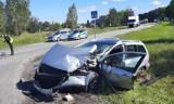 Niebezpieczny wypadek w Chabielicach. Pięć osób zostało przetransportowanych do szpitala