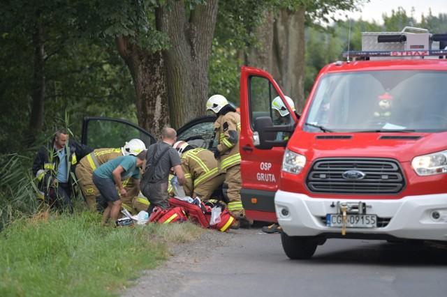 Tragiczny wypadek w Grucie w powiecie grudziądzkim. Zginął 45-latek z Grudziądza