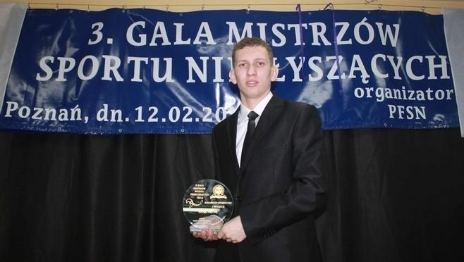 Pływak Artur Pióro wygrał w ubiegłym roku 3. plebiscyt na najlepszych sportowców niesłyszących Polski