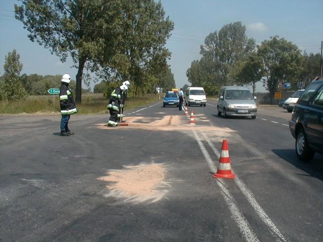 Przebudowa skrzyżowań ma spowodować, że zjazd z drogi krajowej miedzy innymi do Golęczewa będzie bezpieczniejszy