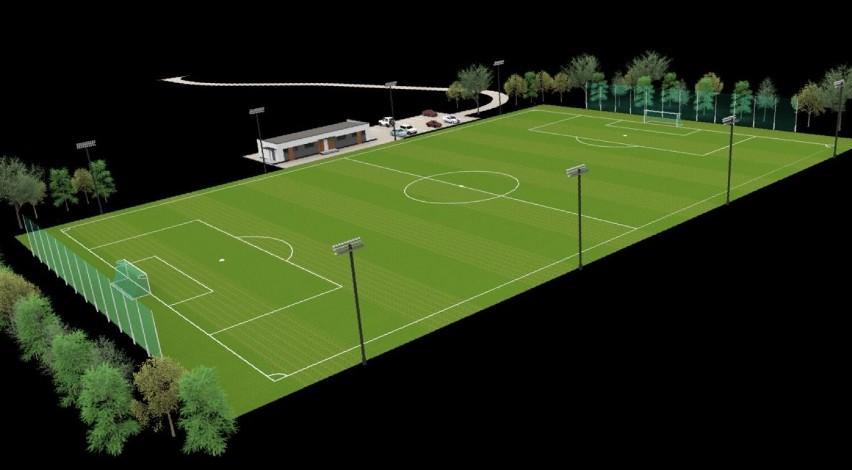 Tak ma wyglądać boisko piłkarskie w Szczecinku ze sztuczną trawą [wizualizacje]