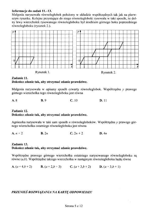 Testy gimnazjalne z matematyki [ARKUSZE, ODPOWIEDZI]