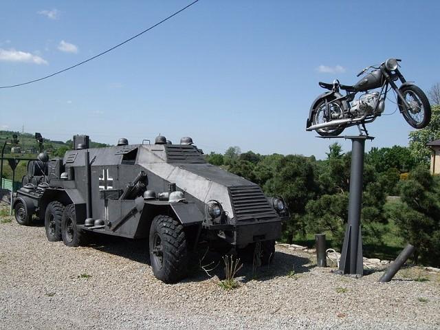 Chełmek ekspozycja, transporteri motocykl IFA BK350